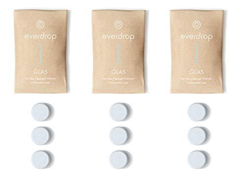 everdrop - Glasreiniger - 9 Tabs - Putzmittel Tabs zum Auflösen, entfernt streifenfrei Schmutz, kein Mikroplastik, reinigt kraftvoll & umweltschonend