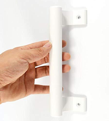 YUM manija de aleación de aluminio blanco balcón puerta corredera manija de puerta de granero deslizante manija de puerta de jardín manija de montaje lateral con tornillos de montaje