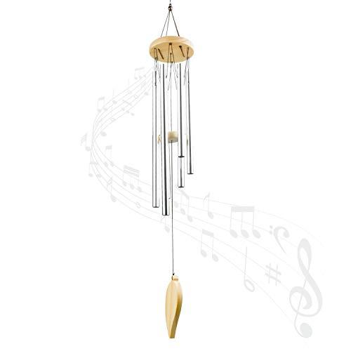 Zaleonline Carillons De Vent en Bois, Massif Carillons éoliens Carillons De Vent Tube en Aluminium, pour Ornements Cadeau D'artisanat