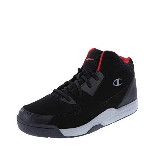 Champion Men's Black Red Men's Overtime Basketball Shoe 11.5 Regular