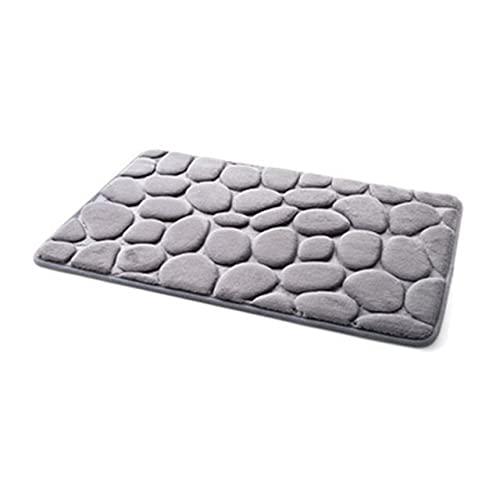 TONGTONG Prácticas antideslizantes 3D adoquines de color sólido para el hogar, cocina, baño, alfombras de piso absorbentes de agua