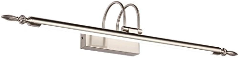 LED Spiegel Scheinwerfer, Waschbecken Toilette Badezimmer, verstellbare Basis, Wasserdicht, RostBestendig, Nickel 12W66cm (26  )