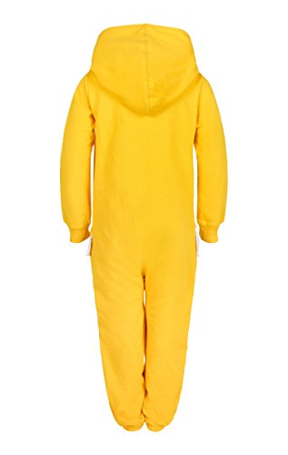 OnePiece Mädchen Solid Overall, Gelb (Yellow), 146 - 2