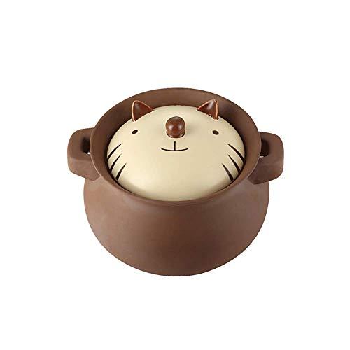 Cocotte double avec couvercle, marmite en céramique, cocotte ronde résistante à la chaleur/en céramique/en céramique/en céramique, Noël-A-4L