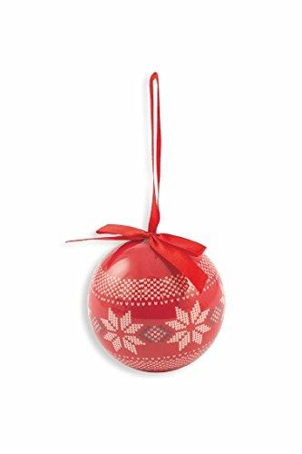 Galileo Casa Christmas Juego Bolas Navidad Reno, poliespuma, Rojo/Blanco, 8x 8x 8cm, 14Unidad