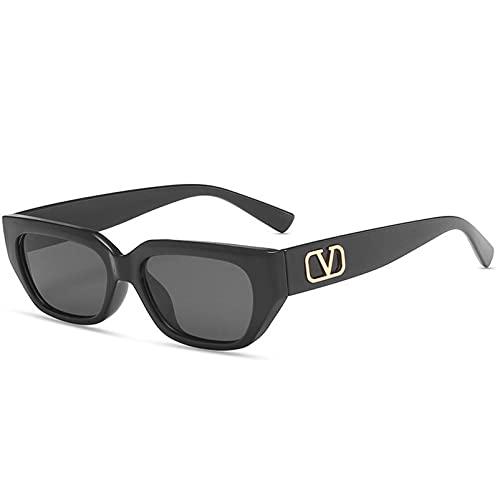 AMFG Gafas de sol cuadradas Color transparente Gafas de sol Pequeña marco de mujer Gafas de playa (Color : C, Size : M)