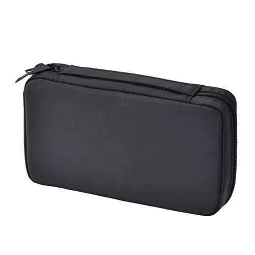 無印良品 ナイロンブック型ポーチ 黒・約12×20.5×4cm 02869175