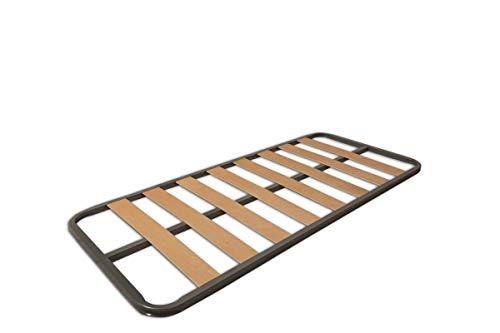 MUEBLIX.COM Somier Eco para Cama 90 x 190 cm | Somier Sin Patas | Láminas Madera de Chopo de 9 cm y Estructura de Tubos de Acero | Útil para Camas Nido o Camas Individuales