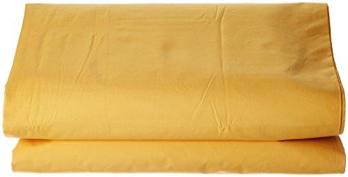 ESSIX Drap de lit uni, Coton, Jonquille, 270x300 cm