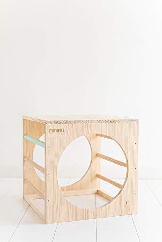 MINIPIU Cubo inspiración Pikler 40x40 cm