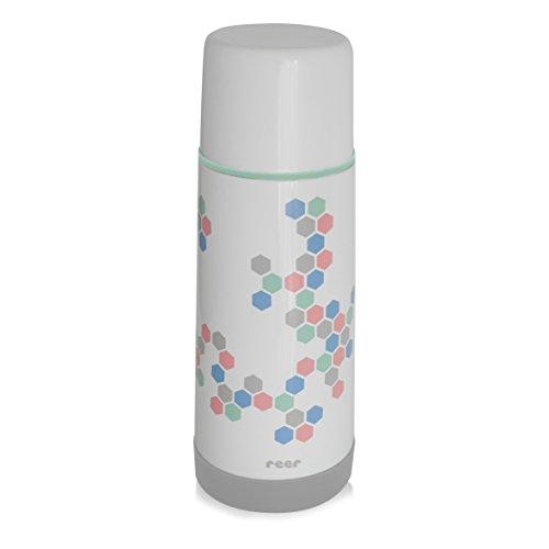 Reer 90310 Edelstahl Isolierflasche DesignLine mit praktischem Anti-Rutschboden, 350ml
