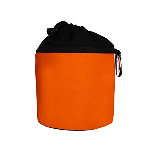 trendfinding Sacchetto Porta-mollette per bucato in Cotone - da Appendere - con moschettone - Arancia