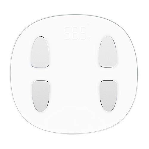HKJZ SFLRW Escala Digital BMI Inteligente: Medida de Peso y Grasa Corporal: Escala de baño de Vidrio Bluetooth preciso