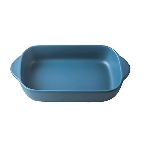 bleu Petits plat four rectangulaire en céramique pour four-plat à gratin/lasagn-23x 12,5 cm(550ML)