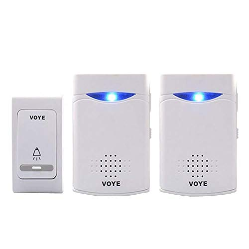 ワイヤレス チャイム 送信機1個 受信機2個セット 無線 部屋 枕元 呼び鈴 呼び出し 介護 防犯 電池式 配線不要taste-chime01