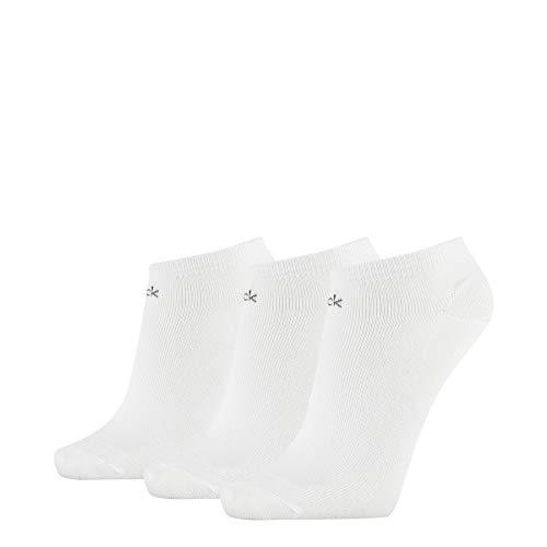 Calvin Klein Frauen Liner Logo Chloe Socken, Weiß, ONE Size