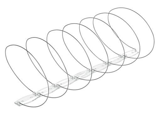 KADAX Vogelabwehr, Spirale, 9 Stück, 3 Meter, Taubenabwehr aus Edelstahl, Kunststoff, Vogelschreck, Vogelschutz für Fensterbank, Dach, Schutz gegen Tauben, Spatzen, Elstern