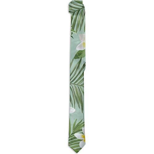 Paedto Corbatas para hombres Moda para hombre Novedad Causal Flores de piña hawaiana Corbata floral Corbata delgada para la cena de boda Fiesta