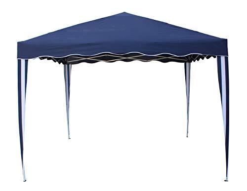 KitGarden - Carpa Plegable 3x3 Multifuncional, Azul/Blanco, Deluxe AZ