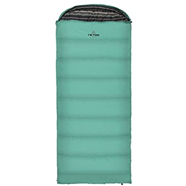 TETON Sports Celsius Regular -18C/0F Sleeping Bag; 0 Degree Sleeping Bag Great for Cold Weather Camping; Lightweight Sleeping Bag; Hiking, Camping; Teal, Right Zip