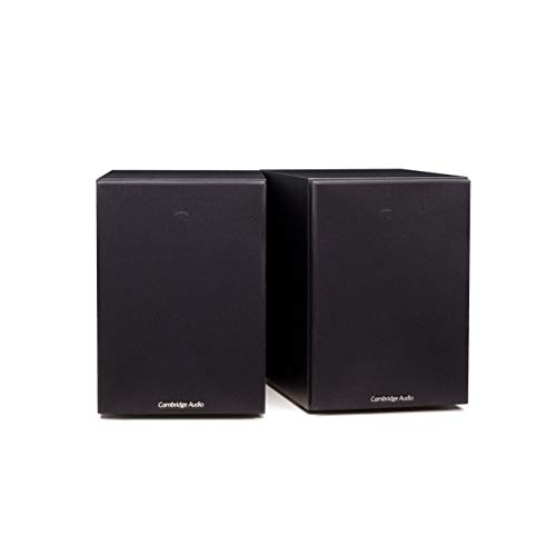 Cambridge Audio SX50 Bookshelf Speaker | 100 Watt Home Theater Compact Speakers | Pair (Black)