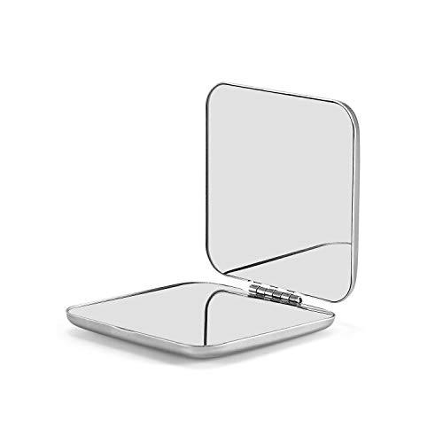OMIRO/® Espejo de Ducha Ventosa 22,86 cm 5X Lupa Espejo Cosm/ético de Acero Inoxidable Acabado Cromo