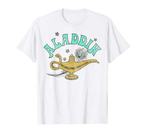 NR Aladdin Live Action Ornate Lamp Sketch T-Shirt