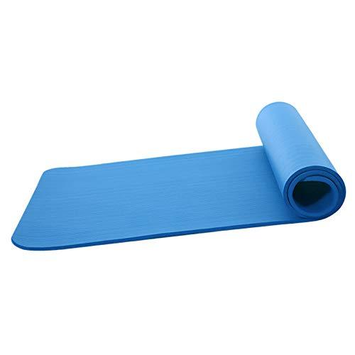 Nobranded Tappetino Yoga Nbr Allargato 80 Cm Ispessito 10 Mm Allungato Tappetino Sportivo Fitness Insapore Blu