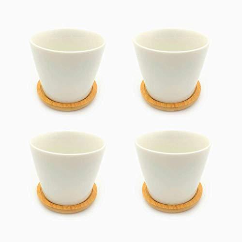 Luce Luce 植木鉢 陶器 サボテン鉢 フラワーポット プランター サボテン 鉢 プランター 【4個入 8.5cm×6.5cm】 多肉植物鉢 小型 ハーブ