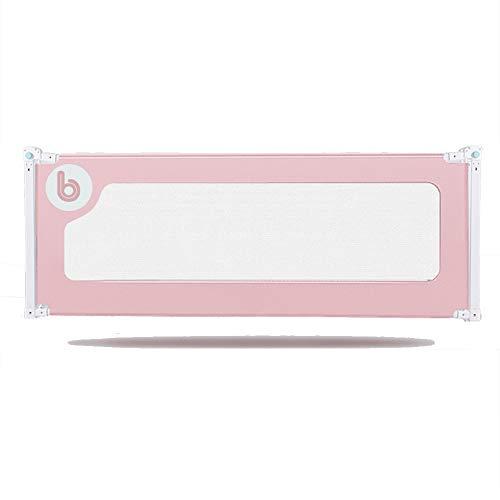 Barrières de lit LHA Baby Child Bed Clôture Vertical Lift No Touch Table de Chevet Utilisation de la Peau Intime Plus assurée -150cm, 180cm, 200cm (Couleur : Pink, Taille : L-150cm)