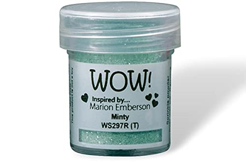 Wow! Brillo con purpurina en relieve de 15 ml   Minty   Libera tu creatividad y da tu chispa en relieve