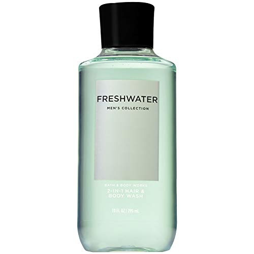 Bath and Body Works Men's Collection FRESHWATER 2-IN-1 Hair and Body Wash 10 Fluid Ounce