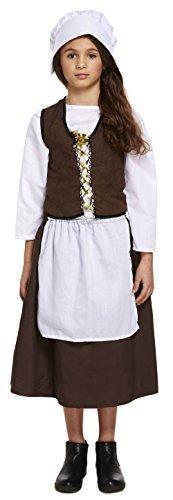 Fancy Me Mädchen Historisch Viktorianisch Dienstmagd Welttag des Buches Kostüm Kleid Outfit 4-12 Years - 10-12 Years