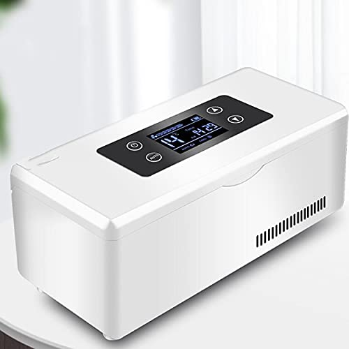 CHEIRS Tragbarer Insulinkühler Insulin kühltasche elektrisch kühlbox medikamente Insulin kühlbox USB Geeignet FüR Reisen/Interferon/Lagerung Von Arzneimitteln,1Battery