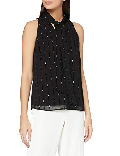 ESPRIT Collection Damen 110EO1F304 Bluse, 001/BLACK, 38