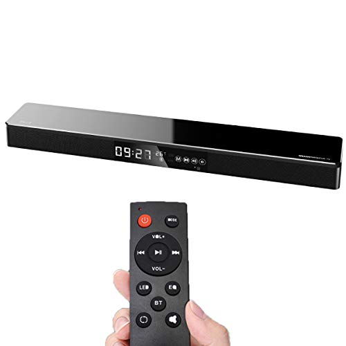Soundbars für TV, Surround-Sound-TV-Sound-System Lautsprecher mit Smart Touch-Display, NFC Bluetooth USB Audio Fiber Coaxial Eingang