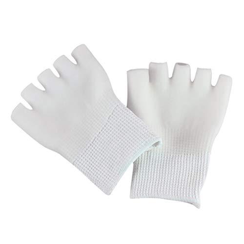 Supvox Gel Feuchtigkeitsspendende Socken Baumwolle Unsichtbare Zehensocken Fingersocken Füßlinge Fünf Finger Socken für Trockene Haut Spa 1 Paar (Weiß)