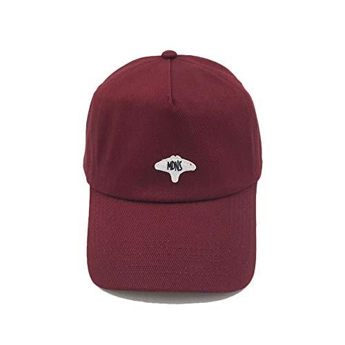 sdssup Retro con la Gorra de béisbol del Sombrero de los Pescados del Diablo Bordado de Moda Casual Tapa de Cinco Piezas Tapa Vino Rojo Ajustable