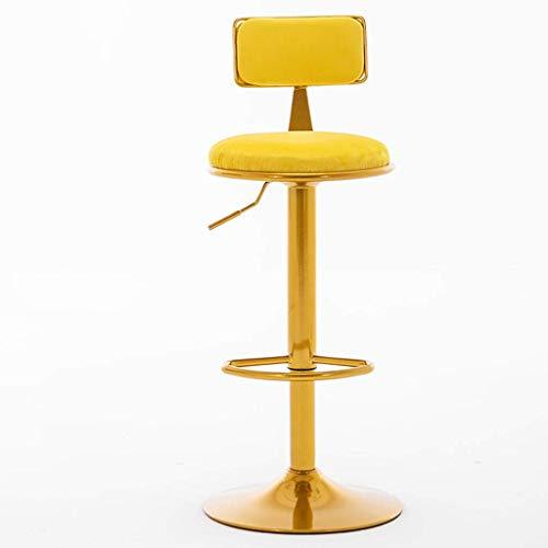 MTCGH Stühle, Hochstühle, Barstühle, Hocker Barhocker Elegant Rund Bar Stühle Verstellbare Stühle Mit Rückenschwenkstuhl Für Büro/Zähler, Mit Rückenlehne Und Fußstütze