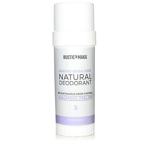 Rustic MAKA Natural Deodorant, Calming Fields (Lavender + Mint), Baking Soda-Free, Magnesium, Continuous Odor Control