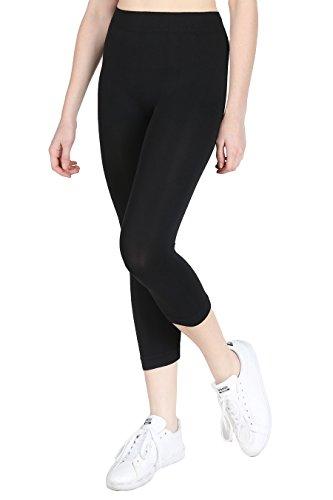 NIKIBIKI Women Seamless Basic Capri Legging...