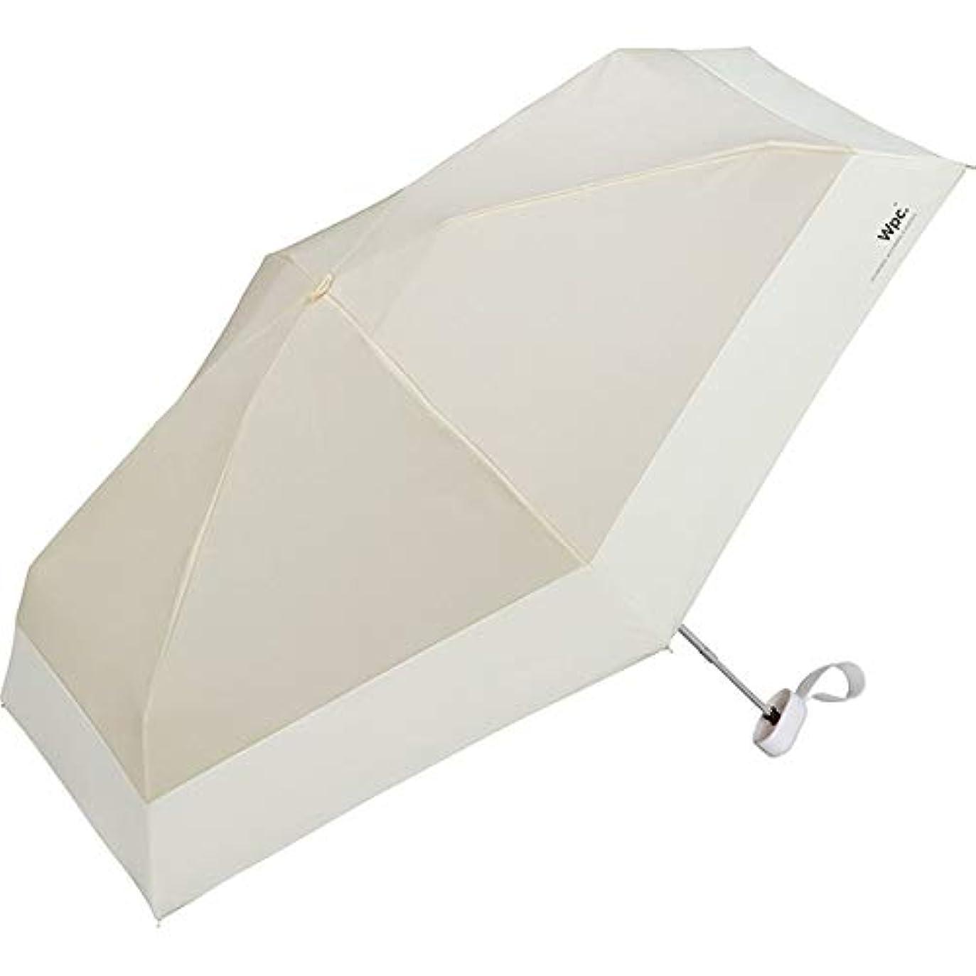 三航海の遠洋のワールドパーティー(Wpc.) 日傘 折りたたみ傘 ベージュ 47cm レディース 傘袋付き 遮光切り継ぎタイニー 801-6423 BE