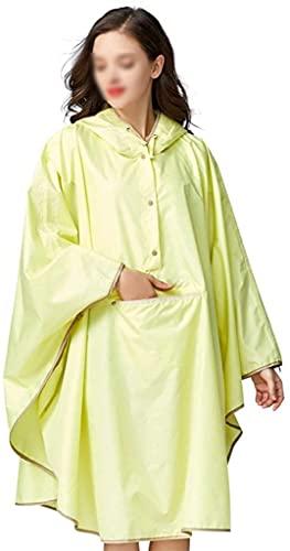 EIERFSKIOT Chubasquero Mujer Chubasquero Hombre Poncho Lluvia Poncho Impermeable Multifuncional Impermeable con Capucha para Adultos al Aire Libre con Capucha(Color:Yellow)