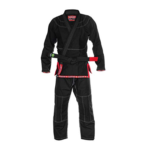 Role Bonito Kimono Negro Ultra Ligero para Jiu-Jitsu Brasileño (BJJ) Talla A1