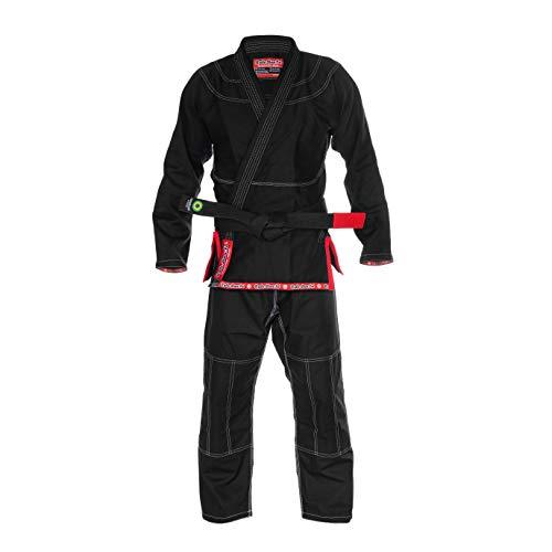 Role Bonito Kimono Negro Ultra Ligero para Jiu-Jitsu Brasileño (BJJ) Talla A2
