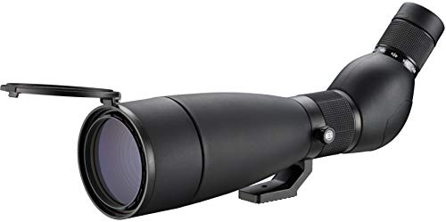 Bresser Spektiv Travel 20-60x80 mit Tischstativ, leichtes und kompaktes Spektiv für unterwegs mit stufenloser Zoom-Vergrößerung, inklusive Tasche mit Umhängegurt und Schutzkappen, Schwarz