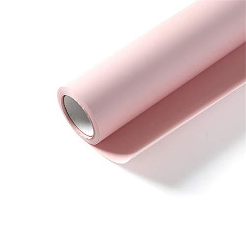 Zhou-WD Monochrome Matte inpakpapier, Flower Shop Essentials Silk Handschoenen muts en sjaal Gift Verpakking 540-inch groot formaat Ontwerp origami (Color : Pink, Size : 58 * 1371.6CM)