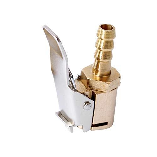 NOLOGO Js-MLX Auto Auto Messing Reifen-Rad-Reifen-Luft Chuck Inflator Pumpe Ventil Clip Clamp-Stecker-Adapter Kfz-Zubehör (Color : 6mm)
