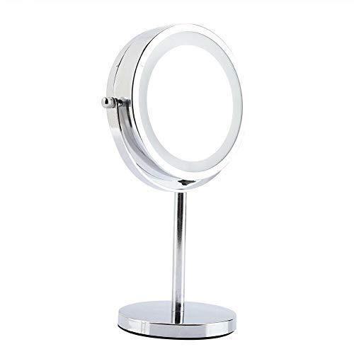 Danielle Miroir sur pied grossissant x 5 Éclairé Double face 15 cm (Chrome)