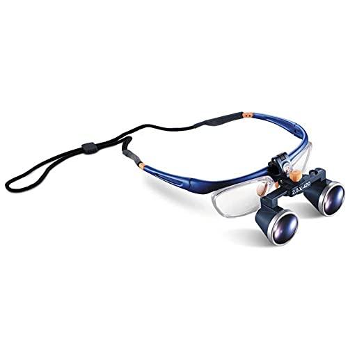 XYSQWZ Lupa con Luz, 2.5X 420 Mm Lupas Binoculares MéDicas QuirúRgicas Lupas De Vidrio óPtico Gafas De Aumento Aprobadas por La Fda Marco Lupa QuirúRgica Dental